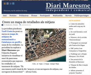 Maresme-mapa