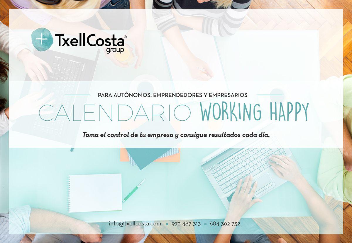 Calendario Working Happy para emprendedores, autónomos y empresarios